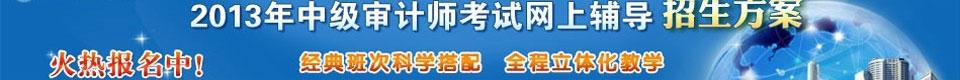 中华会计网校审计师